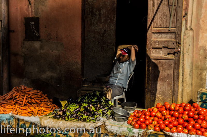 Moroccon Produce Seller - lifeinphotos.com.au